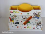 Stiftebox, Schreibtischutensilo Mäuse ABC