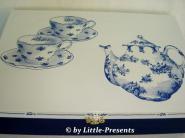 nostalgischen Teebox in Blau Weiss