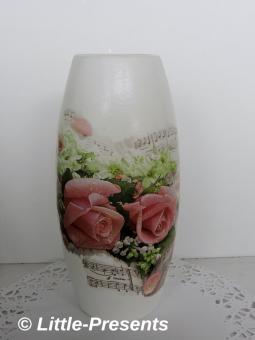 Blumenvase romantische Rosen
