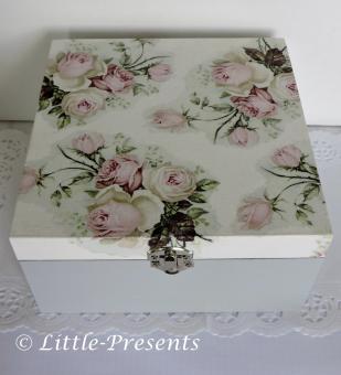 Schmuckbox, Geschenkbox romantische Rosen