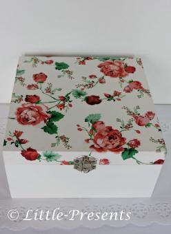 Schmuckbox, Geschenkbox Rosenmotiv