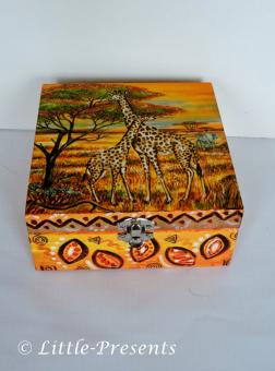 Schmuckbox, Geschenkbox Giraffen