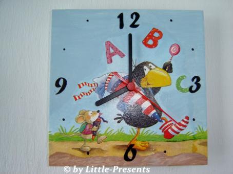 Kinderuhr Raben ABC
