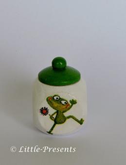 Lockendose, Zahnfeebox fröhlicher Frosch