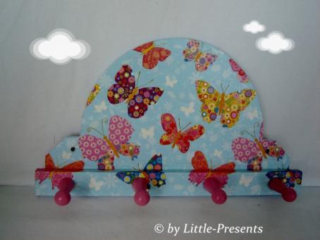 Minigarderobe, Handtuchhalter Schmetterlinge