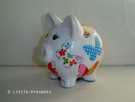 Sparschwein Schmetterlinge
