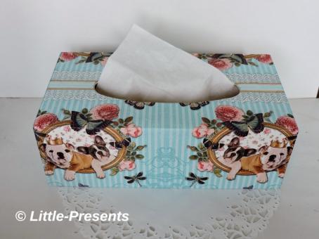 Tücherbox Hundemotiv