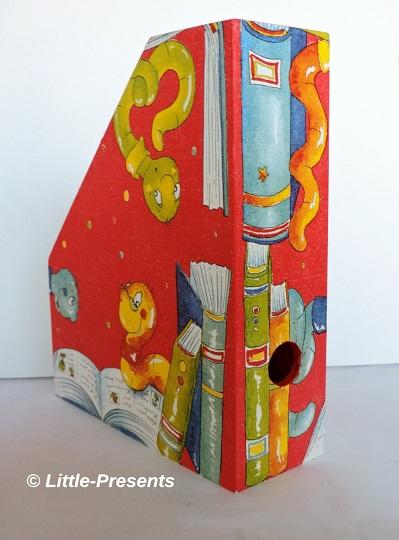 Stehsammler, Zeitschriftenbox Bücherwurm