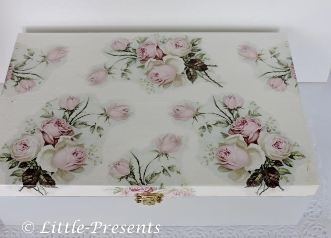 Teebox, Sammlerbox, Schmuckbox, romantische Rosen