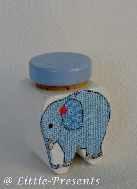 Milchzahndose Elefant blau