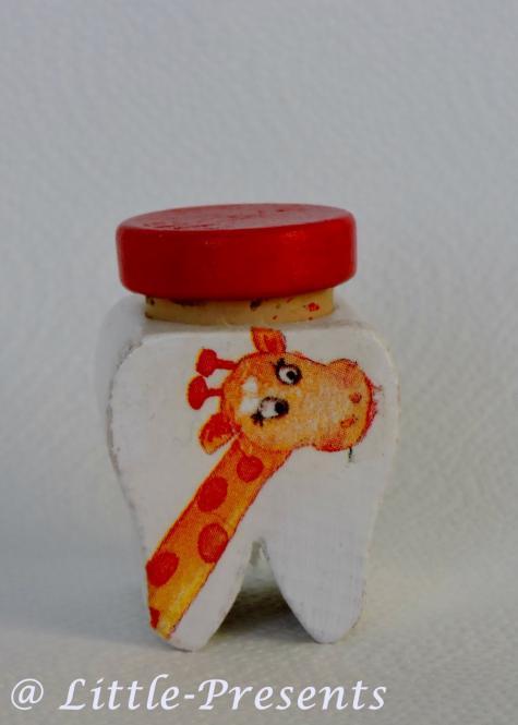 Milchzahndose, Zahnfeedose Giraffe