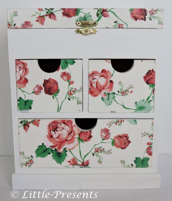 Schmuckbox, Sammelbox Rosenmotiv