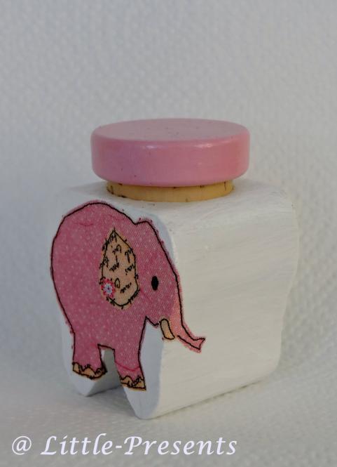 Milchzahndose Elefant rosa